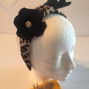 Animal print Art Deco headband